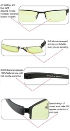 Duco Ergonomic Advanced Gaming Glasses for PC Games image