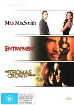 Mr & Mrs Smith / Entrapment / Thomas Crown Affair on DVD image