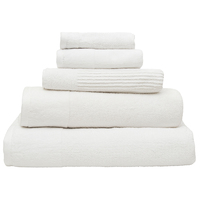 Bambury Costa Cotton Bath Towel (Snow)