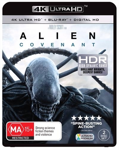 Alien: Covenant on Blu-ray, UHD Blu-ray