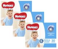 Huggies Ultra Dry Nappies Bulk Shipper - Junior Boy 16+kg (90)