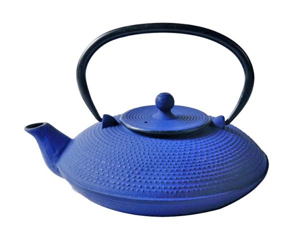 Cast Iron Teapot - Fine Hobnail Blue (800ml)