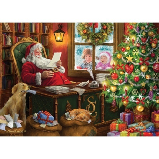 Van Haasteren: Christmas Times Santa's Mail - 1000 Piece Puzzle image