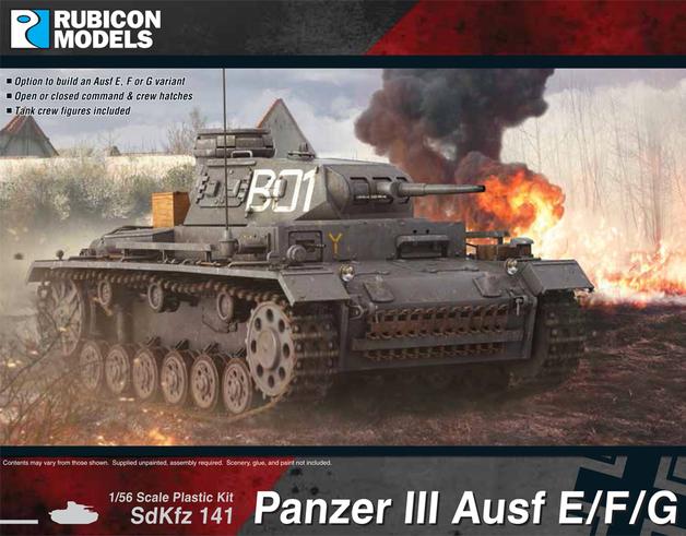 Rubicon 1/56 Panzer III Ausf E/F/G