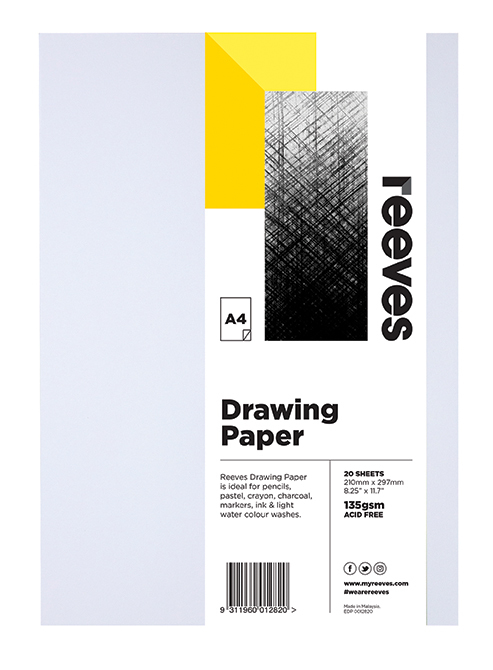 Reeves: Drawing Paper - A4 (135GSM, Pack of 20)