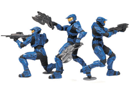 Halo Heroic Collection Action Figures Blue Team (pack of 3)