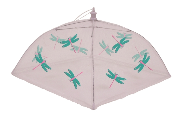 Nylon Net Food Cover 48cm Square Dragonfly