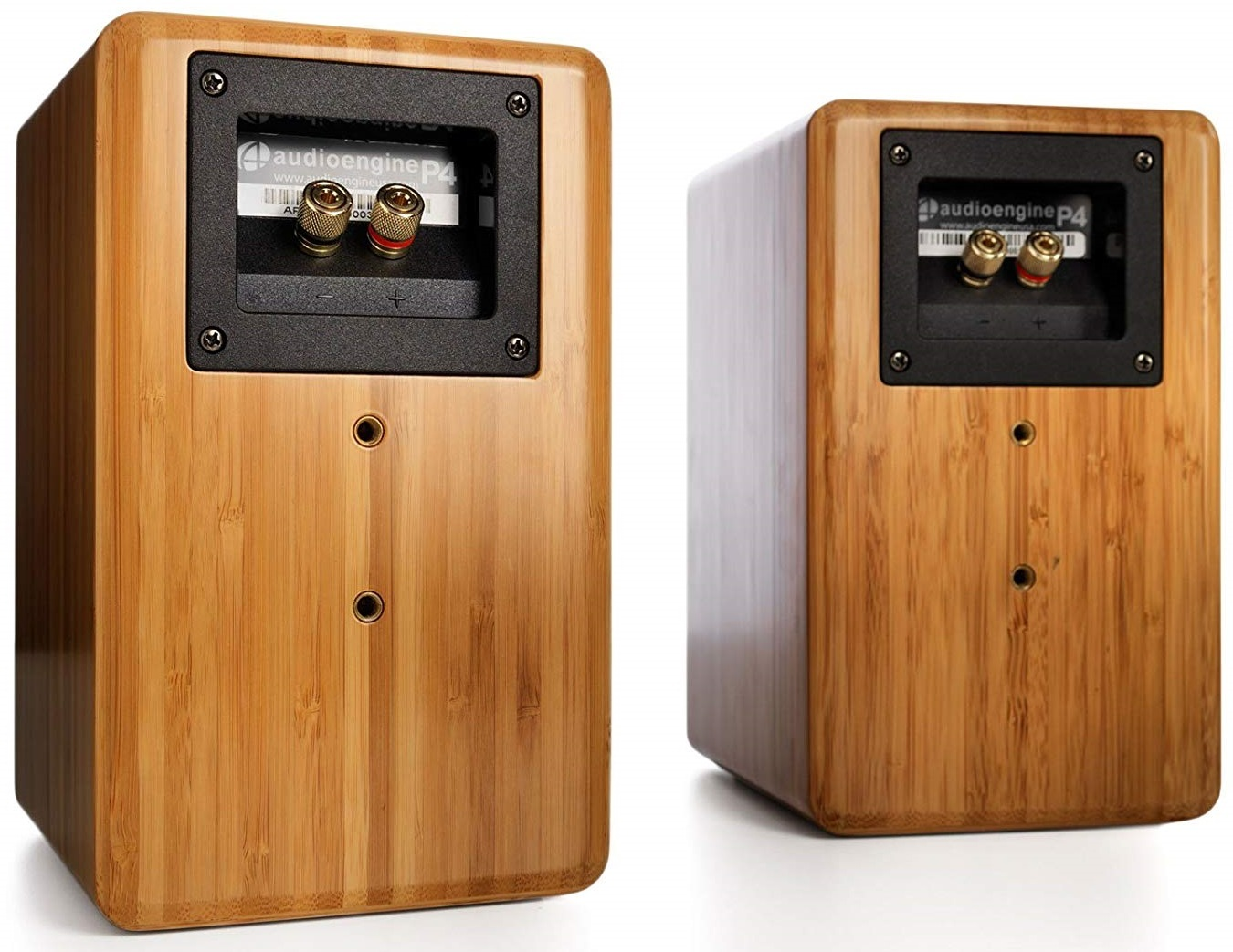 Audioengine P4 Passive Bookshelf Speakers (Pair) Solid Bamboo image