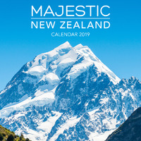 Majestic New Zealand 2019 Square Wall Calendar