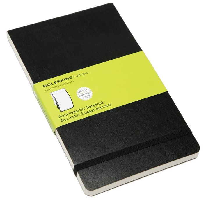 Moleskine Plain Reporter Notebook (Large, Soft, Black) by Moleskine image