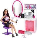 Barbie: Sparkle Style Salon & Doll Playset - Brunette