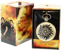 Supernatural: Anti-Possession Pentagram Symbol Pocket Watch