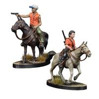 The Walking Dead: Maggie & Glen on Horseback