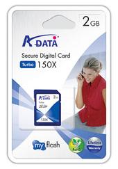 Adata Turbo 150X Secure Digital Card 2GB image
