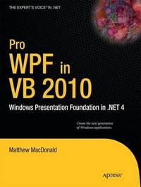 Pro WPF in VB 2010 by Matthew MacDonald image