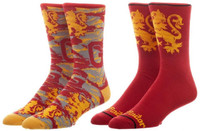 Harry Potter Gryffindor 2 Pack Mens Crew Socks