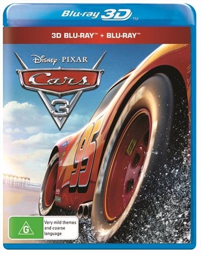 Cars 3 on Blu-ray, 3D Blu-ray image