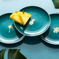 Paradise Green Appetizer Plates