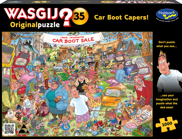 Wasgij: 1000 Piece Puzzle - Original #35 (Car Boot Capers)
