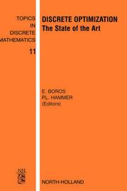 Discrete Optimization: Volume 11 by E. Boros