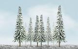 "JTT Scenic Snow Pine Trees 4""-6"" (24pk) - H0 Scale"