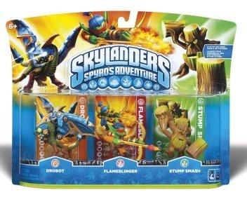 Skylanders Spyro's Adventure Triple pack (Drobot, Flameslinger, Stump Smash) (All Formats) for Wii