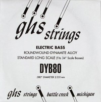 GHS 080 Dynamite Alloy Bass Boomers - Electric Bass Single String