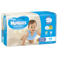 Huggies Ultra Dry Nappies Bulk - Size 3 Crawler Boy (44)