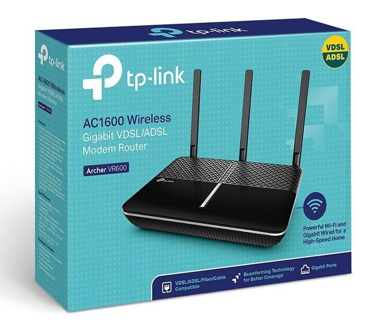 TP-LINK Archer VR600 V2 AC1600 Wireless Gigabit VDSL/ADSL Modem Router image