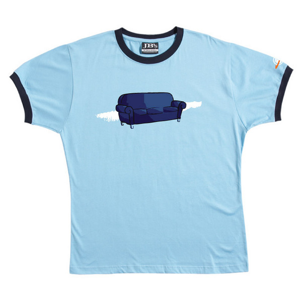 Couch - Ringer Tee (Sky Blue) for