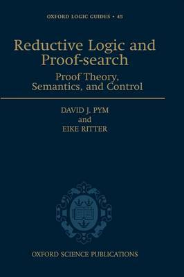 Reductive Logic and Proof-search by David J Pym image