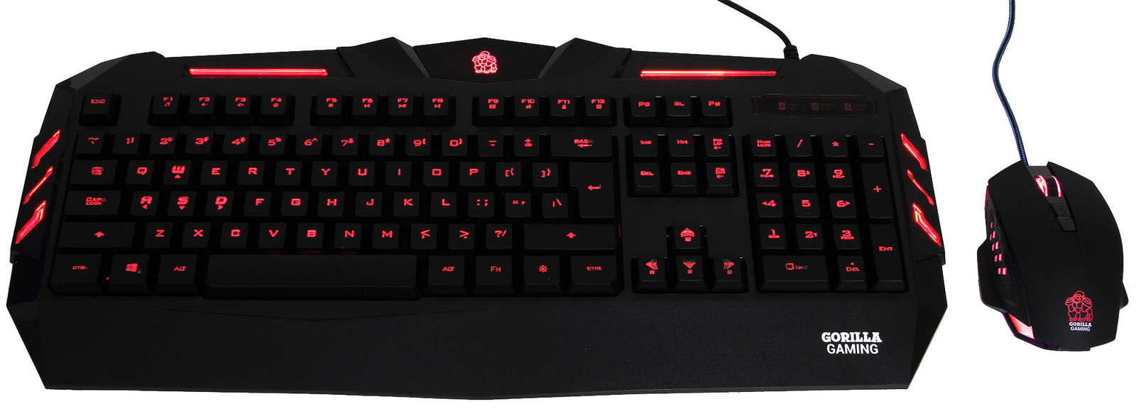 Gorilla Gaming Predator Gaming Combo (Red) for PC Games image