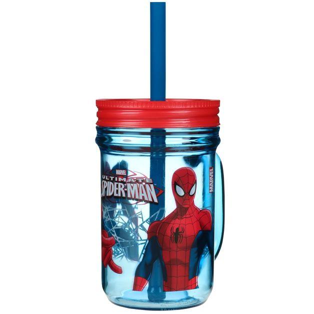 Spiderman Mason Jar
