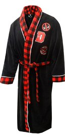Deadpool Plush Robe with Patches (X-Large)