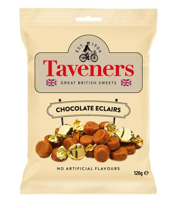 Taveners Chocolate Eclairs 120g 12pk