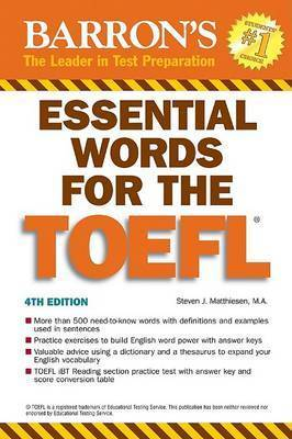 Essential Words for the TOEFL: (Test of English as Foreign Language) by Steven Matthiesen
