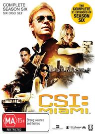 CSI - Miami: Complete Season 6 (6 Disc Set) on DVD