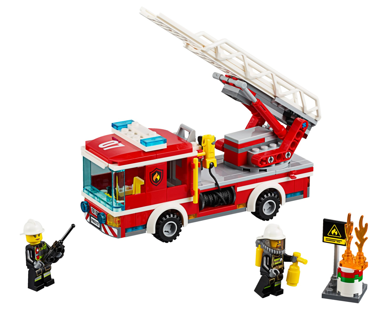 LEGO City - Fire Ladder Truck (60107) image