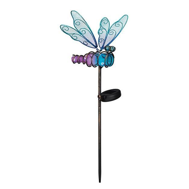 Regal: Mini Solar Dragonfly Stake - Blue