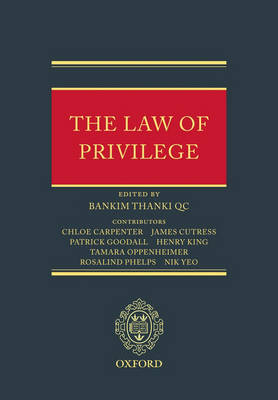 The Law of Privilege by Bankim Thanki image