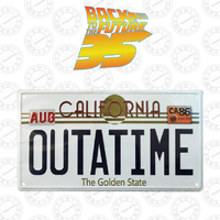 Back to the Future - Replica Number Plate