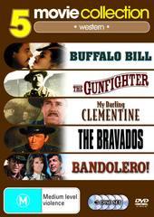 5 Movie Collection: Western Buffalo Bill / The Gunfighter / My Darling Clementine / Bravados /Bandolero on DVD