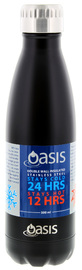 Oasis Insulated Stainless Steel Water Bottle - Matte Black (500ml)