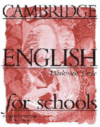 Cambridge English for Schools 3 Workbook: Bk. 3: Workbook by Andrew Littlejohn image