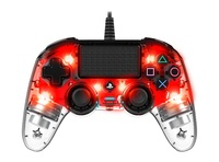 Nacon PS4 Illuminated Wired Gaming Controller - Light Red for PS4 image
