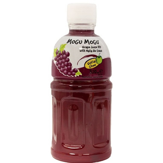 Mogu Mogu Grape Flavored Drink 320ml