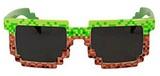 Pixel Brick Green and Brown Sunglasses