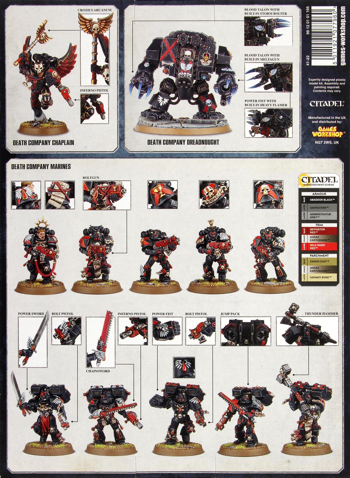 Warhammer 40 000 Blood Angels Death Company Strike Force