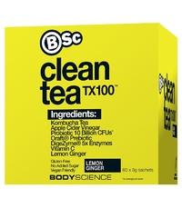 BSC Clean Tea TX100 - Lemon Ginger w Kombucha + ACV (60x3g)