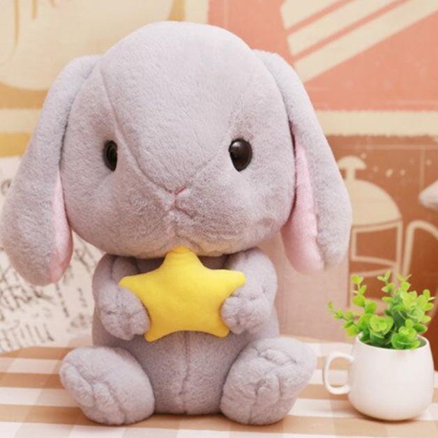 Long Ears Bunny - Grey (32cm)
